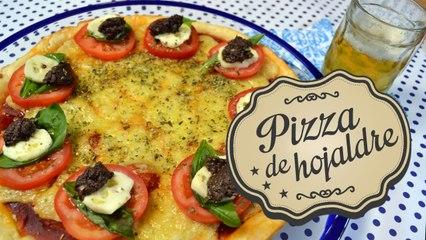 Pizza de hojaldre   Comamos Casero