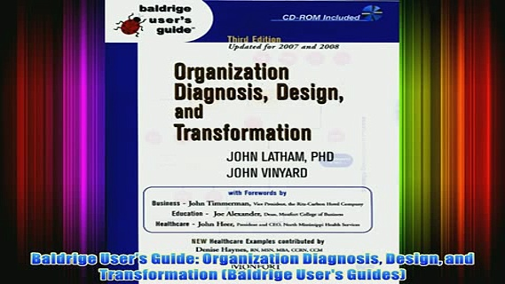 FREE PDF   Baldrige Users Guide Organization Diagnosis Design and Transformation Baldrige Users FULL DOWNLOAD