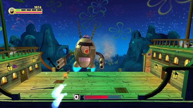 Spongebob Squarepants Planktons Robotic Revenge All Bosses