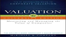 Download Valuation  Measuring and Managing the Value of Companies  University Edition  Wiley