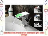 LED baño lavabo grifo de lavabo monomando grifo cromo sanlingo
