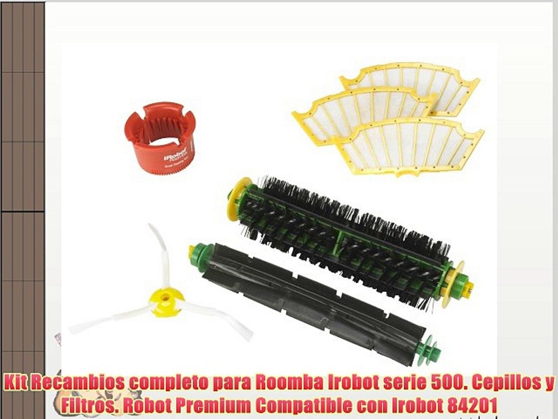 600-Serie 700-Serie. vhbw Set de cepillos laterales de recambio de 3 brazos para iRobot Roomba 500-Serie