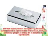 WIN-WARE Caja de pañuelos rectangular con 100 lujosos y suaves pañuelos de papel incluídos.