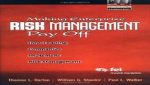 Download Making Enterprise Risk Management Pay Off  How Leading Companies Implement Risk Management