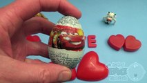Disney Cars Surprise Egg Learn A Word! Spelling Valentines Words! Lesson 12