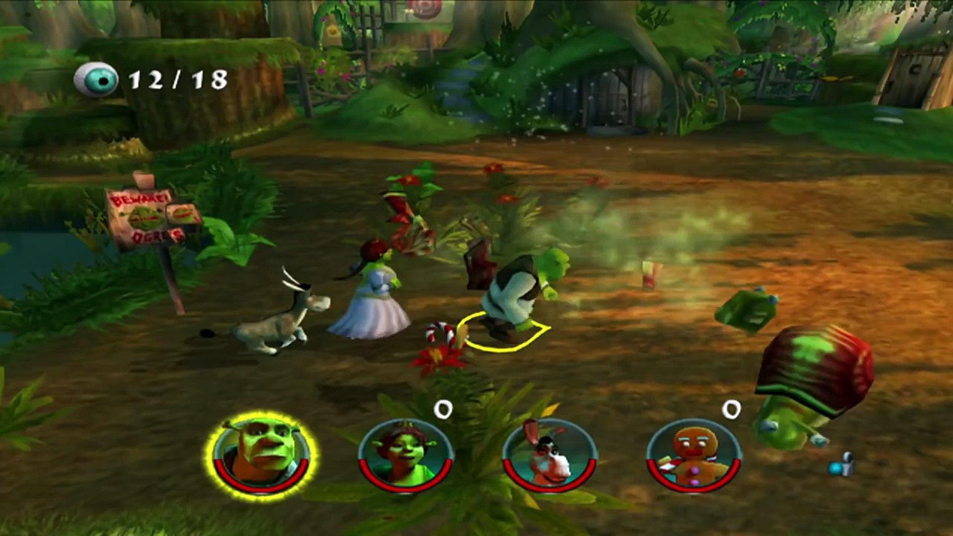 Shrek 2 The Game Walkthrough Level 1 Shreks Swamp Part 1 Ps2 Xbox Gamecube Hd Video Dailymotion