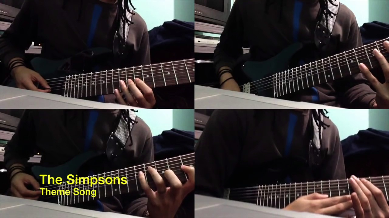 The Simpsons Theme Song Intro – 8 strings guitar