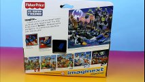 Imaginext Batwing Batman saves Caillou & Prince Wednesday from Joker Riddler Penguin & K Croc