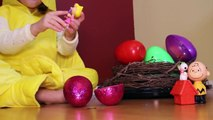 Woodstocks Surprise Eggs with Charlie Brown, Snoopy and Peanuts Gang Character Toys