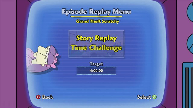 The Simpsons Game (Xbox 360) ~ Level 14: Grand Theft Scratchy (Time Challenge)