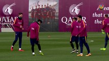 FC Barcelona training session: Sevilla in their sights