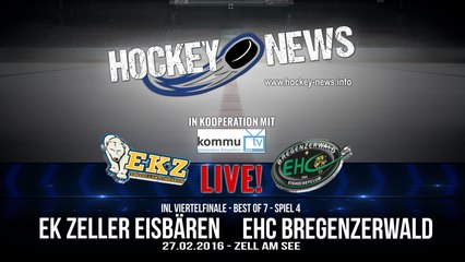 HN Live! EKZ Zeller Eisbären gegen EHC Bregenzerwald - 27.2.2016 um 19:15 Uhr