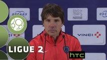 Conférence de presse Paris FC - AJ Auxerre (2-2) : Jean-Luc VASSEUR (PFC) - Jean-Luc VANNUCHI (AJA) - 2015/2016