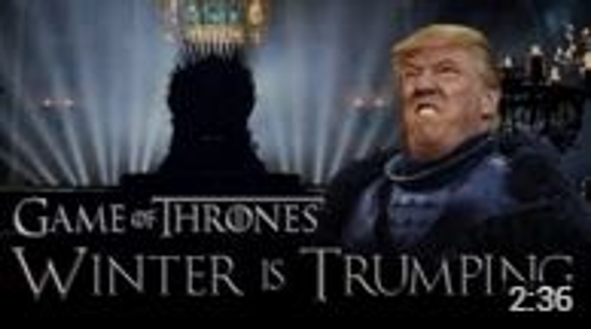 Game of Trump Parody : Donald Trump meets Game of Thrones at the Wall
