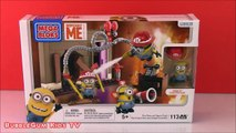 MINIONS TOYS 2015 DESPICABLE ME FIRE RESCUE MEGA BLOKS! Illumination MINIONS Unboxing Opening