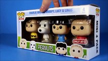 NEW Peanuts Movie 2015 trailer Funko Pop Exclusives Unboxing Snoopy Charlie Brown