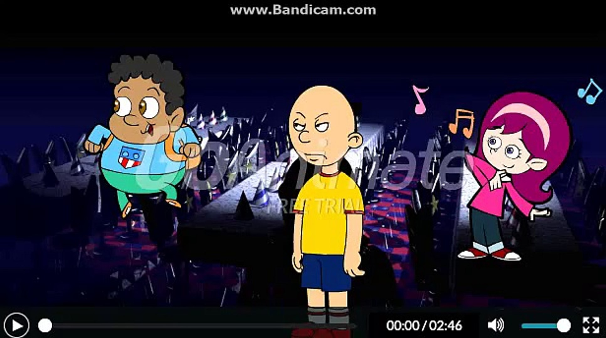 Caillou Turns The Animatronics Into Comedy World Dailymotion Video