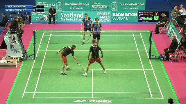 Badminton - Cwalina / Wacha vs Beck / Kaesbauer (MD, R16) - Scottish Open 2015