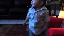 Baby dances cute mickey mouse hot dog dance!