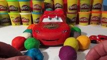 Play Doh Surprise Eggs, Pixar Cars Lightning McQueen and 12 Play Doh Surprise Eggs with Giant Lightn