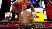 Roman Reigns & John Cena vs Seth Rollins, Randy Orton & Kane 2-on-3 Handicap Match  Raw Latino