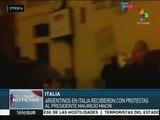 Italia: argentinos reciben a Mauricio Macri con protestas