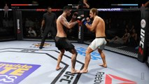 i just knocked my damn self out!? (EA Sports UFC 2 Beta)