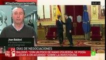 """Baldoví: """"No entenderíamos que PSOE negociara con nosotros y tuviera un acuerdo con C's"""""""