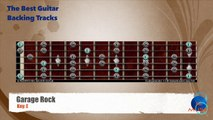 Garage Rock in E Guitar Backing Track with scale map
