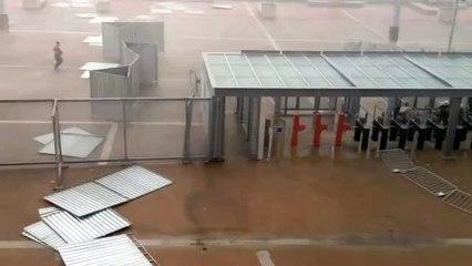 Chuva intensa no Mineirão antes do clássico entre Cruzeiro e América