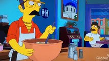 Homer the Greek (the Simpsons) and Springfield Greek Dances at the Greek Diner, OPA!
