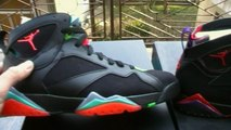 Frenkys sneaks Jordan retro 7 Marvin the Martian vs. Raptor vs. French blue