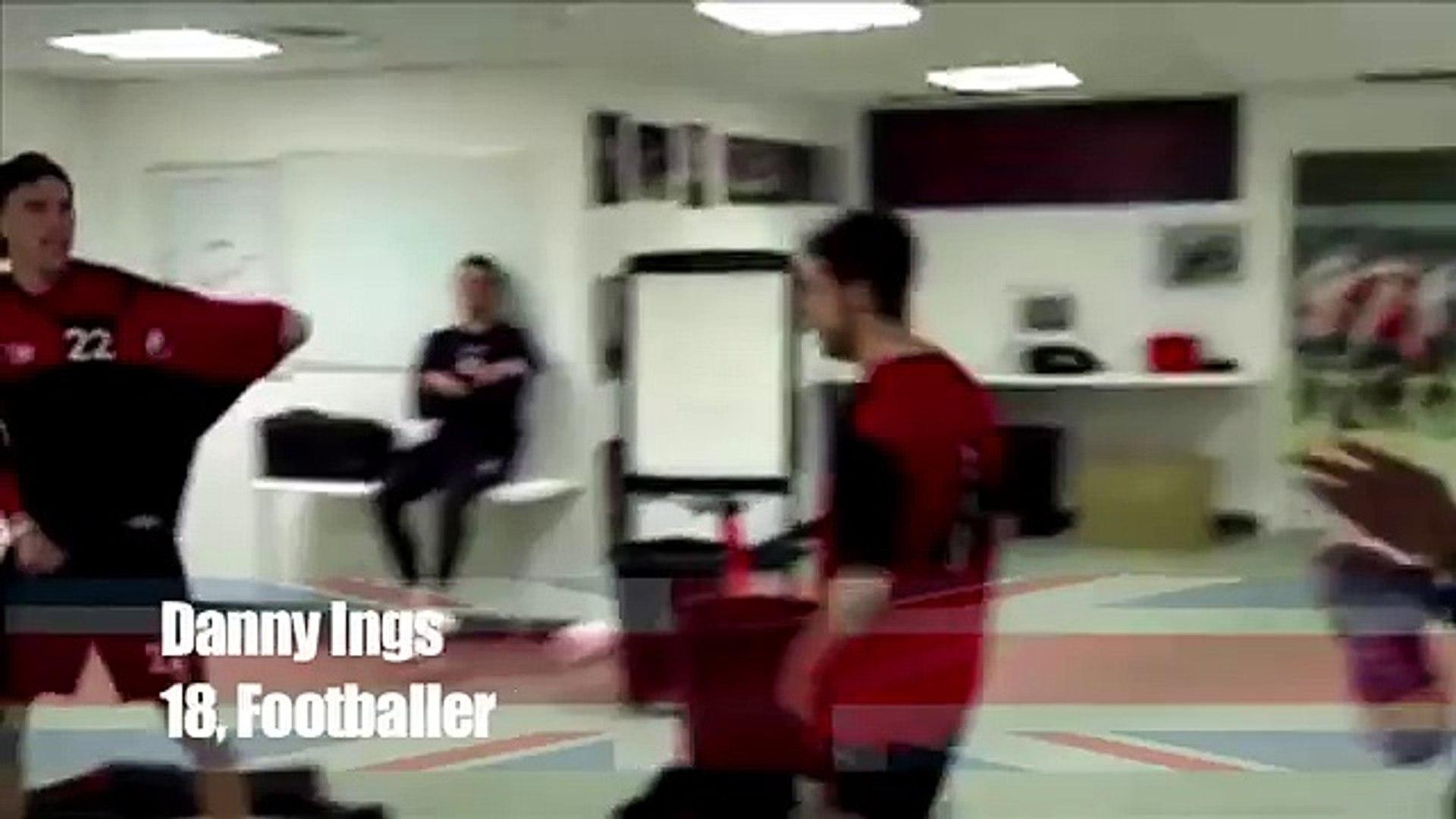 Amazing dance | Current England under 21 international Danny Ings body pops