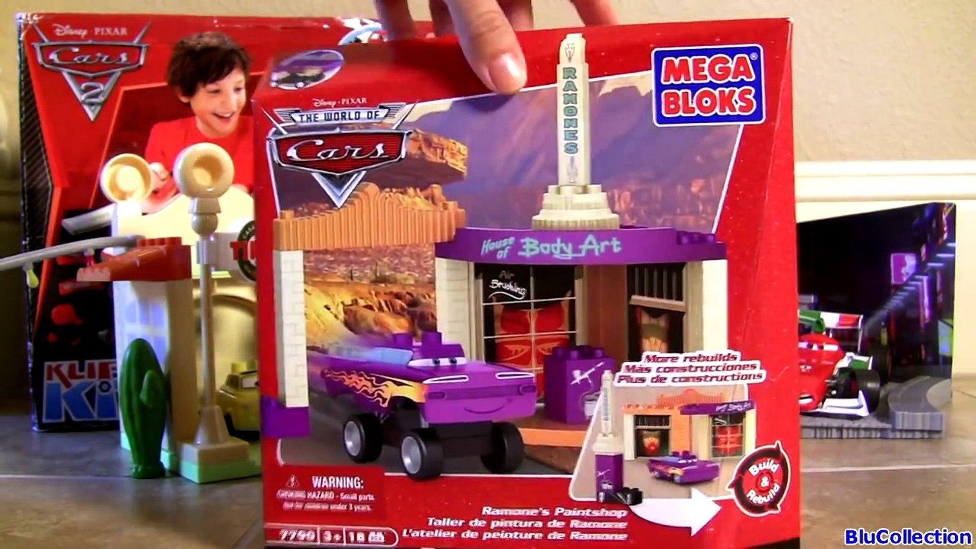 Mega Bloks Cars Ramones Paintshop Body Art 7790 Building Toys Disney Pixar By Toy Collector Video Dailymotion