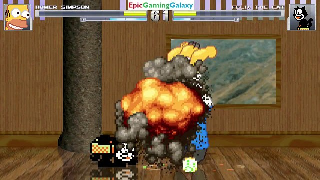 Felix The Cat VS Homer Simpson From The Simpsons Series In A MUGEN Match / Battle / Fight