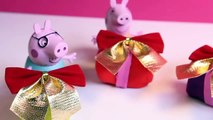 Peppa Pig Christmas Presents Gifts Play Doh Surprise Eggs Regalos de Navidad de Peppa Pig