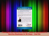 PDF  Managed Services in a Month  Build a Successful It Service Business in 30 Days  2nd Ed  EBook