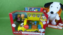 The Peanuts Movie TOYS! Charlie Brown School Bus and School House Playset with Snoopy and Sally!