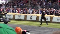 Stunt Bike and Drift Car Madness Donuts Around People, Wheelies and Crazy Drifting
