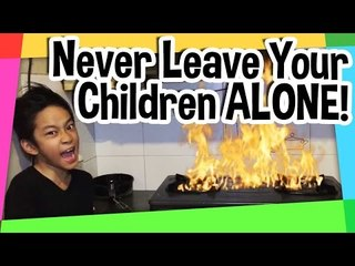 Never leave your children alone