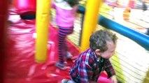 Fun at Six Flags: Bugs Bunny World Ball Pit w Looney Tunes, Daffy Duck, Bugs Bunny, Superman, Batman
