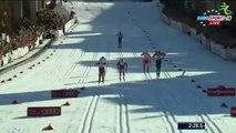 Лыжные гонки.Жесткое падение Крюкова с выходом в полуф