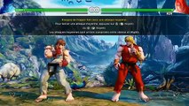 Street Fighter 5 beta PS4 : Street Zero Costumes & mode story (histoire) / mode training