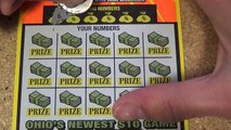 $10 lottery ticket roll scratching. Ticket #29 of 50. $200 million extreme cash