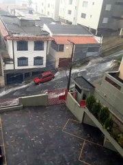 Chuva de granizo em BH