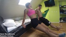Couple Workout ♥ Fit together is fit forever ♥ Cute couple