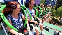 Lex Luthor: Drop of Doom on-ride & off-ride HD b-roll footage Six Flags Magic Mountain