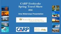 Ama Waterways Presentation at Cruise Holidays   Luxury Travel Boutique CARP Etobicoke Travel Show