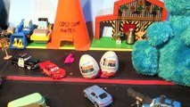 Disney Pixar Cars Lightning McQueen and Sally Valentines Day Surprise Kinder Eggs with Cookie Monste