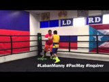 Pacquiao dazzles onlookers in last training day at Wild Card